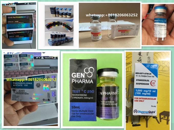 Custom Vial Labels / Medicine Bottle Label For Steroid Pharmaceutical Packaging