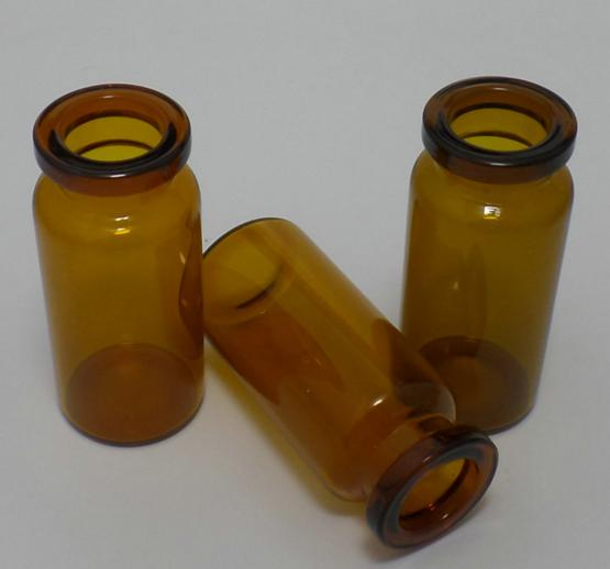 Pharmaceutical 10ml Amber Small Glass Vials Aluminum Plastic Material