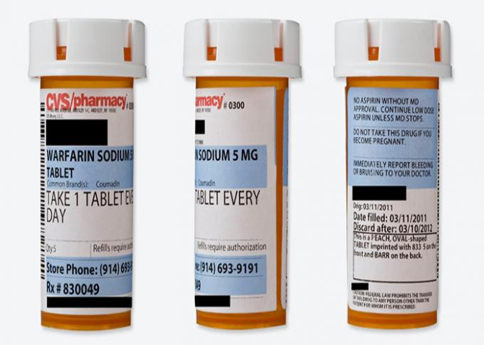 Pill Bottle Label / Personalized Label Stickers For Health Care Product