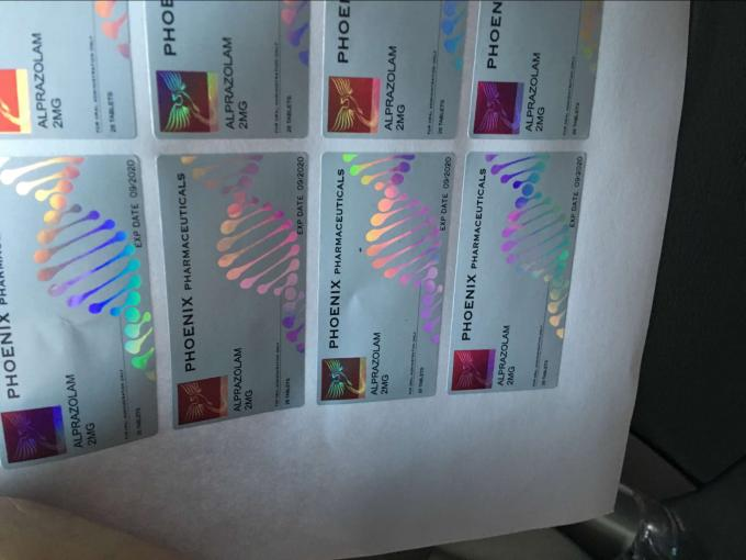 10 Ml Steroid Bottle Labels , Hologram Printed Personalized Bottle Labels