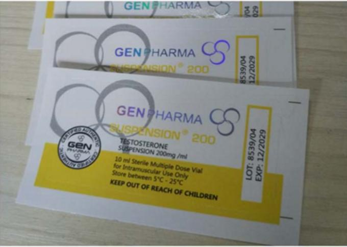 Steroid Pharmaceutical Glass Vial Labels Waterproof 4C Full Color Printing
