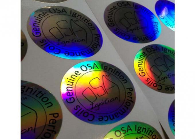 Honeycomb Security Hologram Sticker , Tamper Evident Labels Eco - Friendly  Material