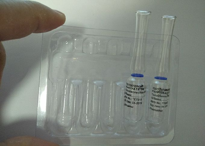 Clear Empty Glass Vial Labels Hair Or Ginseng Ampoule For Injection