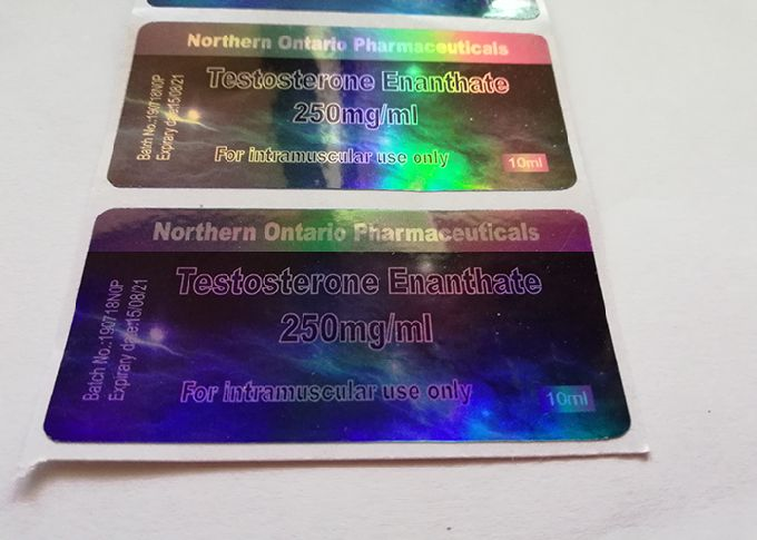 6x3cm Gold Shine 10ml Vial Labels , 3d Hologram Stickers With Custom Design