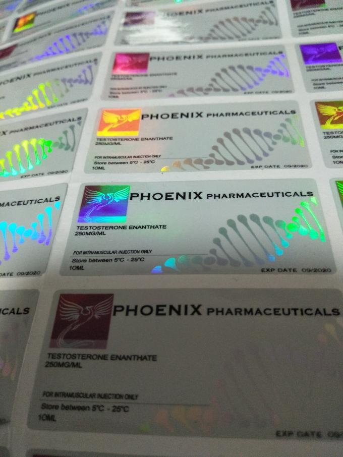 Phoenix Pharmacetical Injection Custom Vial Labels With Laser Hologram Materail