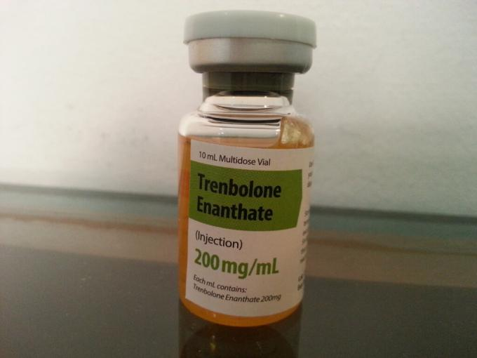 Gold Color PET Steroid Bottle Labels For Trenbolone Enanthate Product