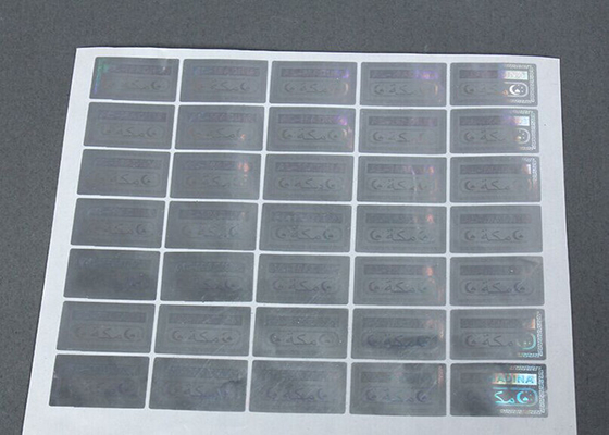 China 3D Anti Counterfeit Sticker / Silver Label Stickers Scratch Off With Security Code supplier