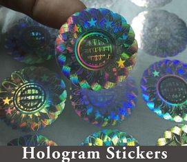 China Honeycomb Custom Hologram Stickers For Pharmaceutical Packaging Security supplier