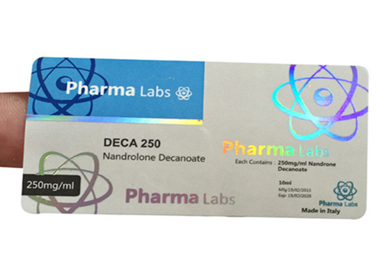China Holographic Prescription Vial Labels / Custom Adhesive Stickers Free Samples supplier