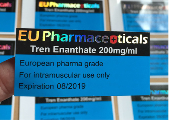 China Pharmaceuticals Adhesive Glass Vial Labels Stickers For 200 Mg Tren Enanthate supplier