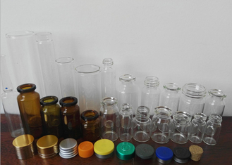China Amber Little Glass Vials 10mL Bottle 22mm Wide 50mm Tall With Dropper Sealing supplier