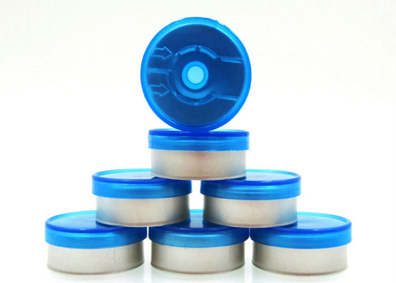 China Medical Vials Bottle Flip Off Cap Round Shape With Aluminium Plastic Material supplier