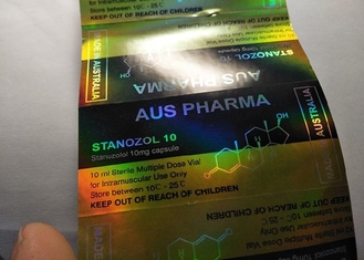 China Golden Hologram Color Glass Vial Labels Pharmacy Bottle Labels Of Aus Pharma Design supplier