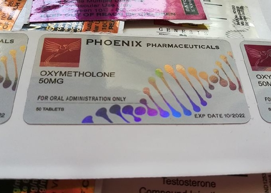 China Phoenix Pharmacetical Injection Custom Vial Labels With Laser Hologram Materail supplier