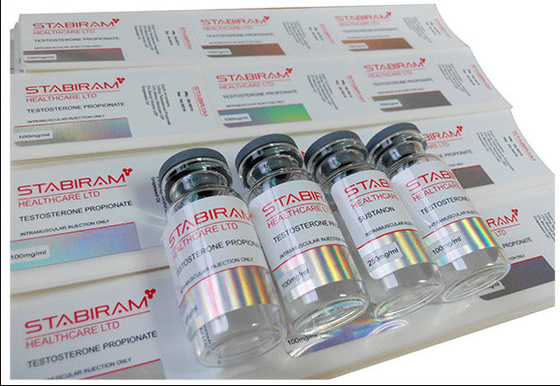 Pharma Lab Hologram Laser 10ml Vial Label Stickers With Glossy Finish