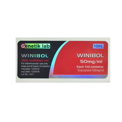 Genetik Lab Winibol 50mg Oral Pill Bottle Label