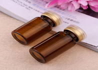 Liquid Medicine Small Glass Vials / Mini Glass Bottles Stoppers With Crimp Cap