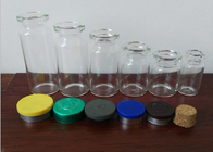 Amber Little Glass Vials 10mL Bottle 22mm Wide 50mm Tall With Dropper Sealing