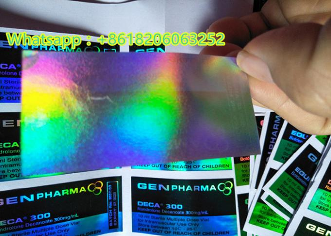 10ml Vial Hologram Sticker Labels / Medicine Bottle Label Laser Printing