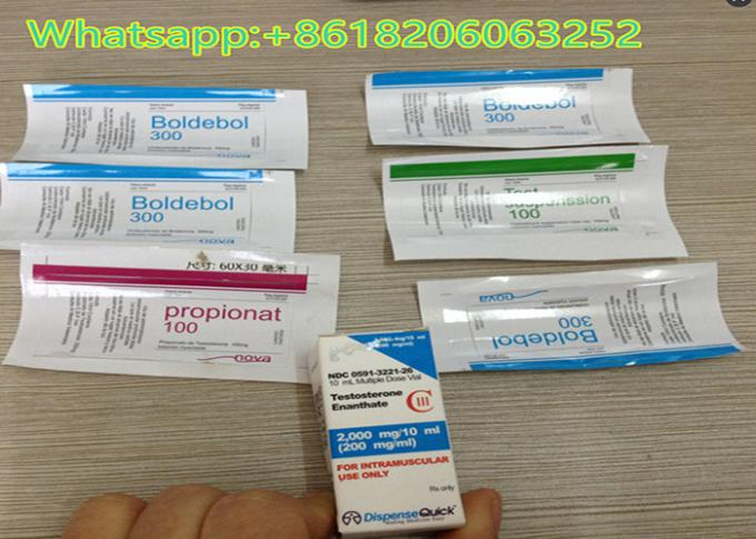 Paper 10ml Vial Labels Stickers Testosterone Enanthate 250mg Two Color Printing
