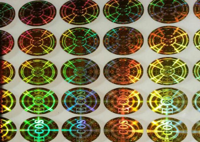 Gold Security Custom Hologram Stickers Anti Counterfeiting For Box Packing
